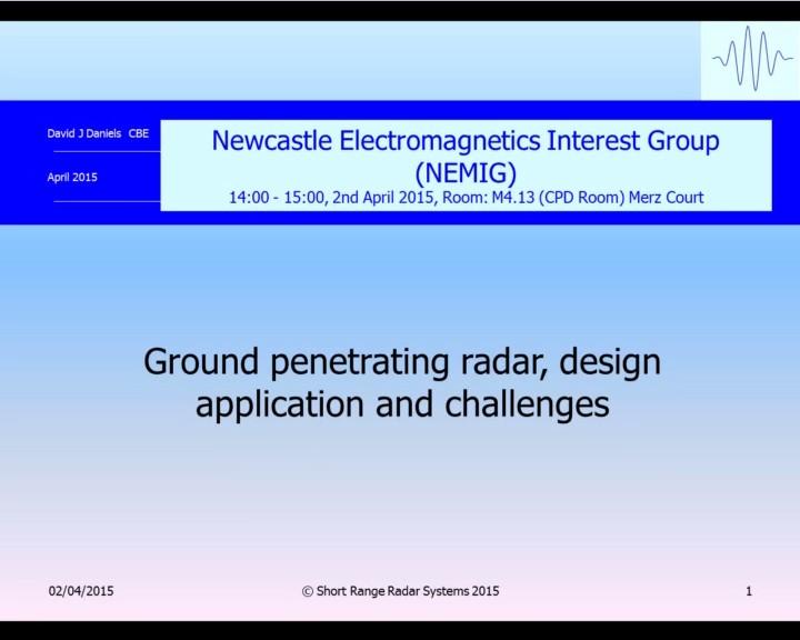 Async org uk NEMIG: 'Ground Penetrating Radar: Design